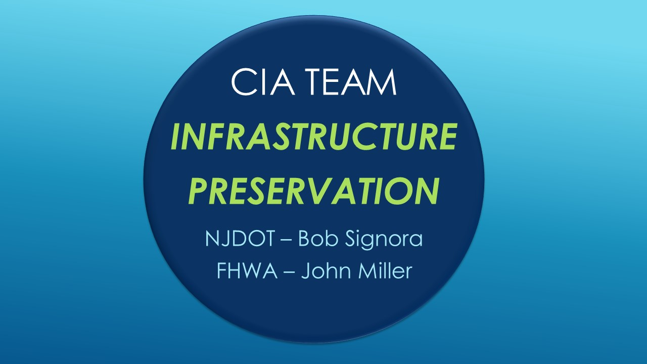 CIA Team Update: Infrastructure Preservation
