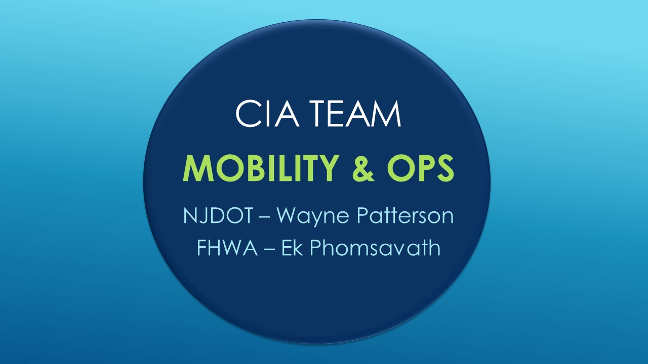 CIA Team Update: Mobility and Operations