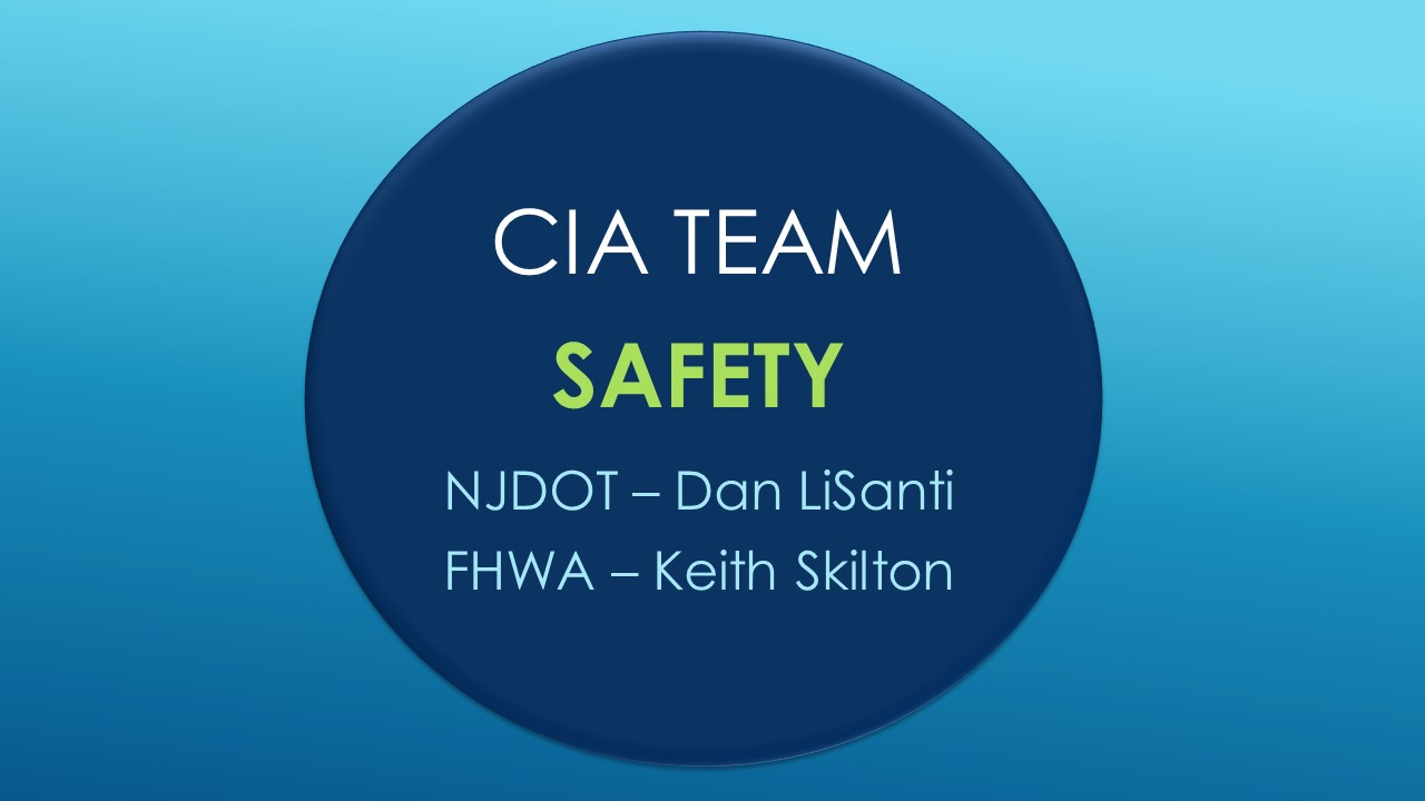 CIA Team Update: SAFETY