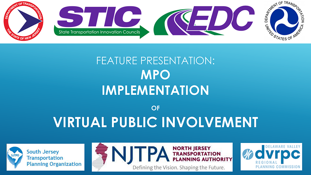 MPO Implementation of Virtual Public Involvement