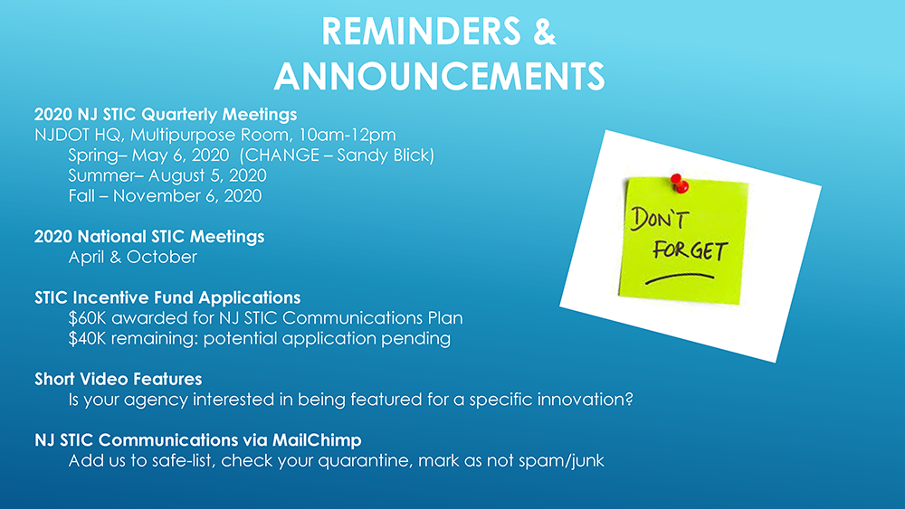 Roundtable, Reminders & Announcements, Wrap Up