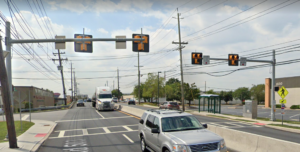Figure 2. HAWK signal located north of the intersection of Barrell Avenue and Washington Avenue.