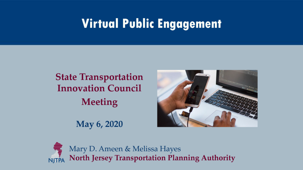 Virtual Public Engagement by NJTPA