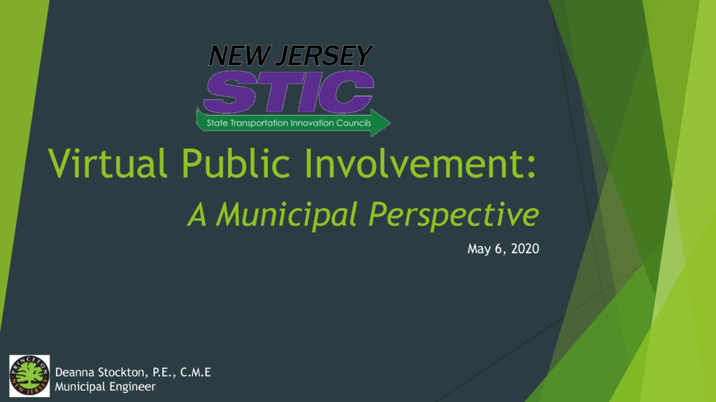 Virtual Public Involvement: A Municipal Perspective