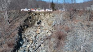 NJDOT used a drone to safely photograph the full extent of the soil erosion