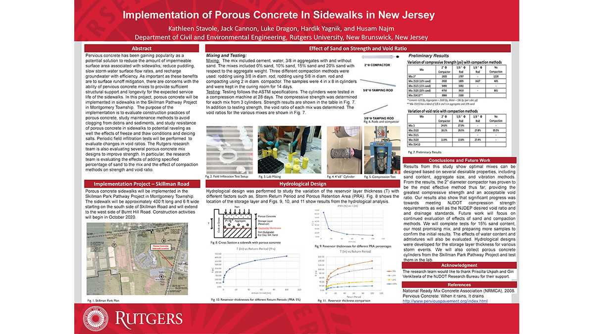Poster-Kathleen Stavole, Jack Cannon, and Luke Dragon - Implementation of Porous Concrete