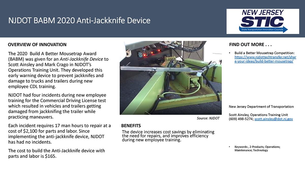 NJDOT BABM 2020 Anti-Jackknife Device