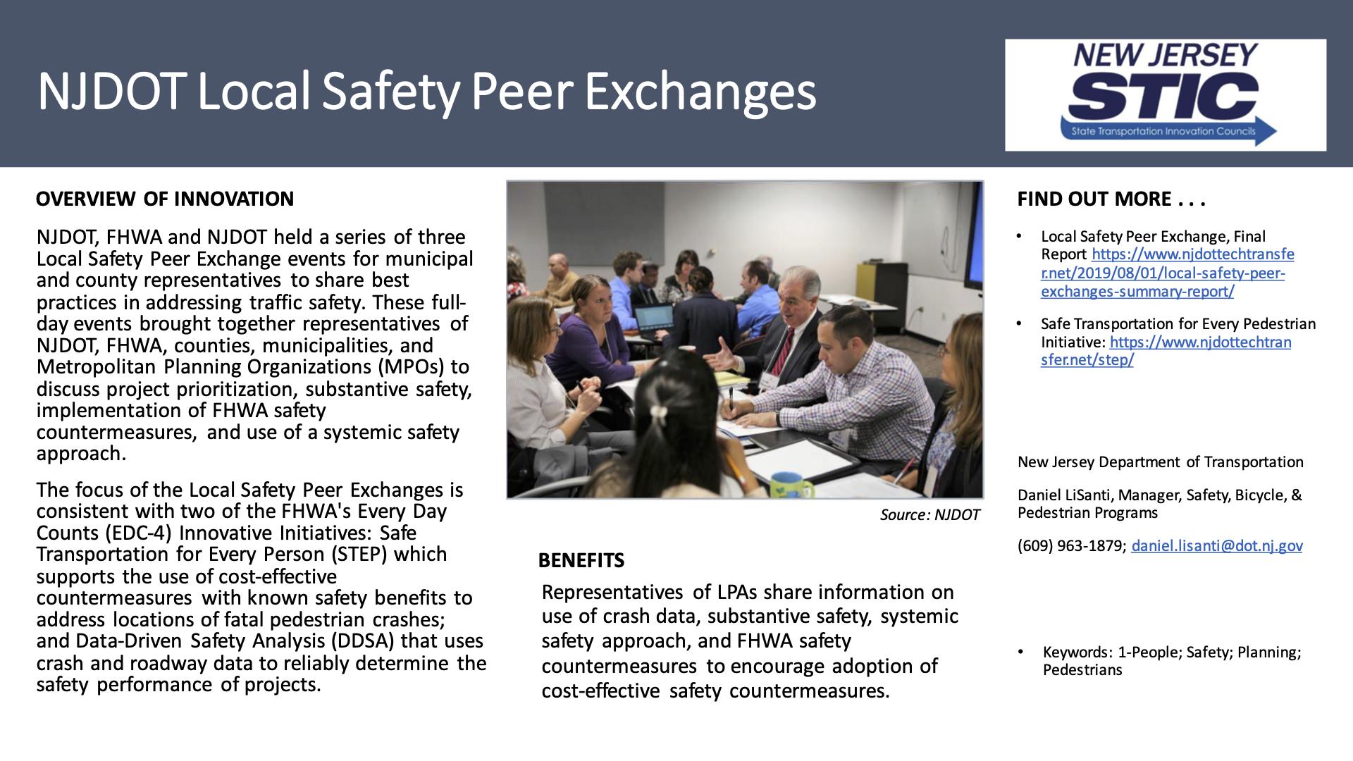 NJDOT Local Safety Peer Exchange