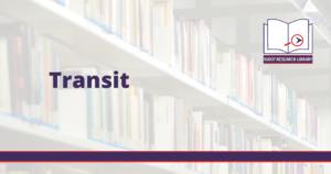 Image reads: Transit