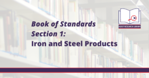 Image Reads: Book of Standards Section 1: Iron and Steel Products