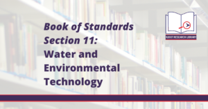 Image Reads: Book of Standards Section 11: Water and Environmental Technology