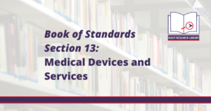 Image Reads: Book of Standards Section 13: Medical Devices and Services