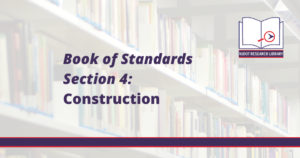Image Reads: Book of Standards Section 4: Construction