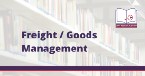 Image Reads: Freight and Goods Management.