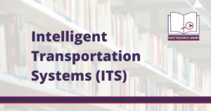 Image Reads: Intelligent Transportation Systems