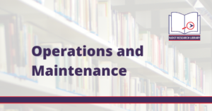 Image reads: Operations and Maintenance