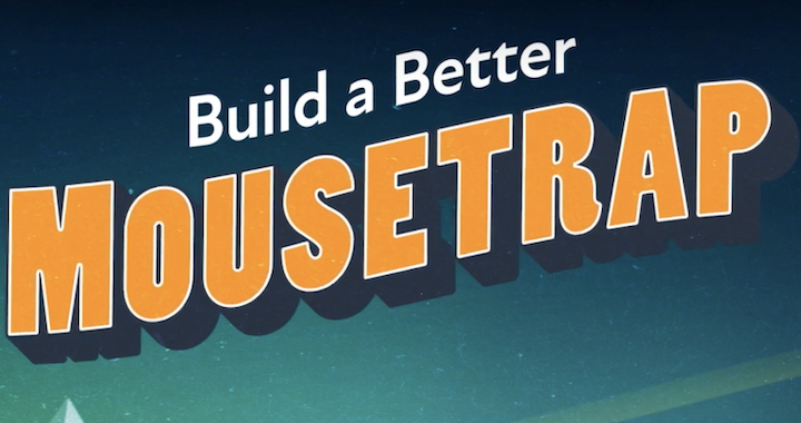 Post card style image reads: Built a Better Mouse Trap: National Recognition Program for Transportation Innovation