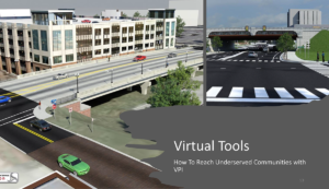 North Carolina JDOT uses 3D visualizations and interactive animation, among other tools, to help public involvement participants understand proposed projects and impacts.